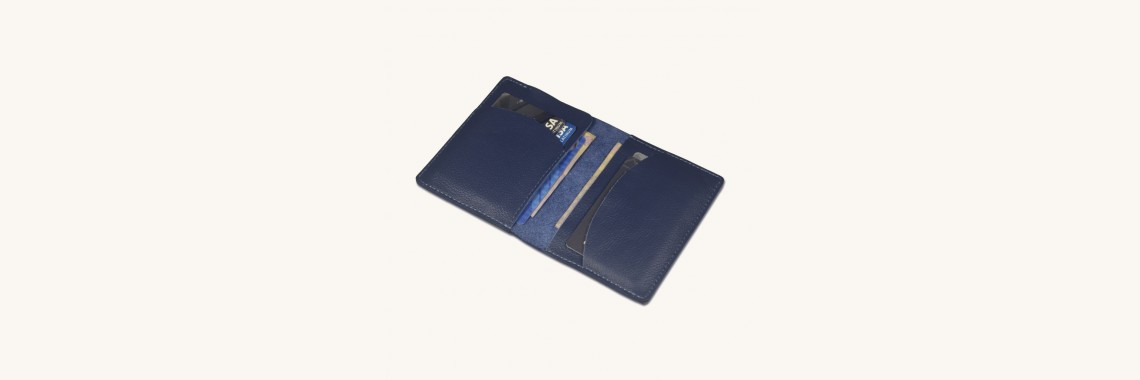 Stylish Leather Bi-Fold Card Holder Cum Slim Wallet