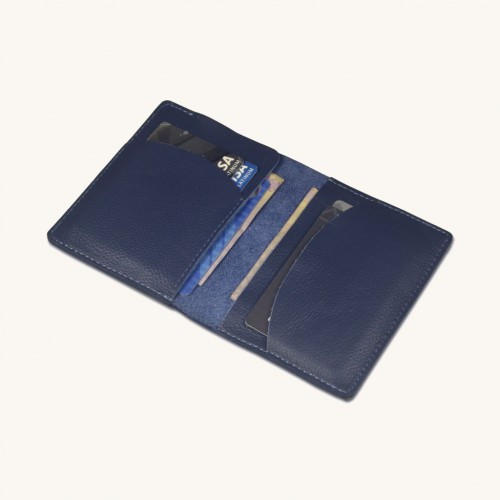 Stylish Leather Bi Fold Card Holder Cum Slim Wallet