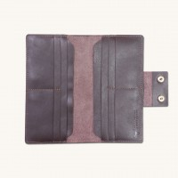 Leather Long Wrist Wallet  For Smart Phone & Money Carrying (WW-014)