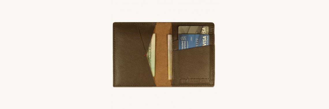 Stylish Leather Bi Fold Card Holder Cum Slim Walle