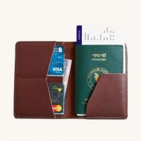 Stylish Leather Passport Sleeve
